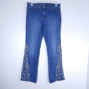 Ethyl Classic Embroidered Flare Jeans W129ET